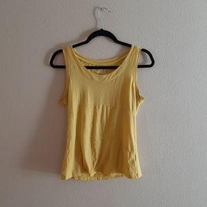 Danskin Yellow Active Womens Top size 8/10